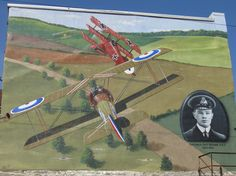 Mural painted in honour of Captain Roy Brown in Carleton Place, Ontario. A story about Captain Brown and The Red Baron can by found in The National Post - it was written by Joe O'Connor,November 2012 Carleton Place, Local History, Baron, Ontario, November 2, Atc, Places, Challenge, Canada