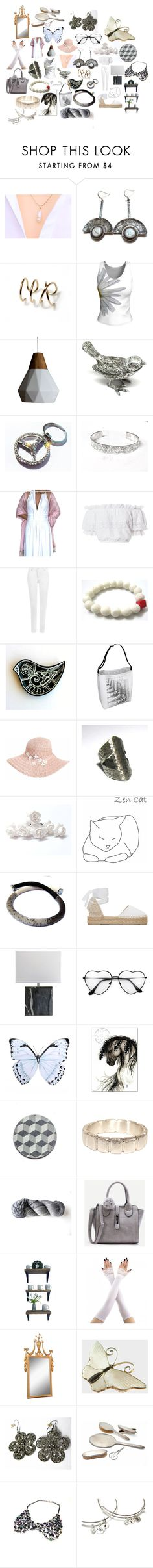 """""""White beauty"""" by planitisgi ❤ liked on Polyvore featuring Jeffan, LoveShackFancy, WearAll, Dorfman Pacific, Manebí, Anello, Gorham, Mother Daughter Jewelry and whitebeauty"""