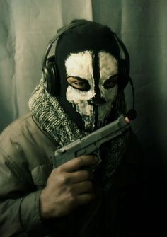 Love it- DIY Call of Duty Ghost Mask made from the sleeve of a black tshirt
