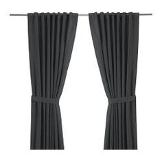 "RITVA Curtains with tie-backs, 1 pair - 57x118 "" - IKEA. These with the sheer patterned ones I pinned before!  Pretty!"