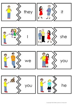 $ Subject and Object Pronouns, Possessive Pronouns and Adjectives Puzzles