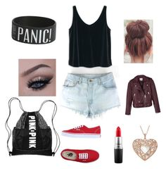 """""""Summer sleepover"""" by nadieglaze on Polyvore featuring MANGO, Vans, MAC Cosmetics and Reiss"""