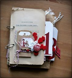 Love the use of the old book page (Lizzie@Embellees)