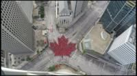 Canada Day: Time-lapse captures 'largest living maple leaf' - BBC News
