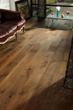 Pretty sure I love this flooring! Not light; not dark; and without the 'red tone' of some wood. LOVE the wide planks!!!!!!