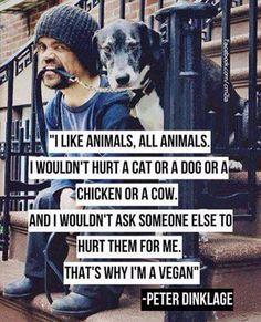 We love Peter Dinklage! #VeganCelebs