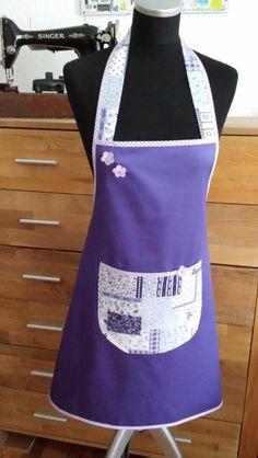 """zauberhaft  in Violett !"" -Kochschürze von XBergDesign auf DaWanda.com"