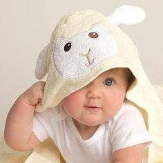 Amazon.com : Luvable Friends Animal Face Hooded Towel, Purple Penguin : Baby