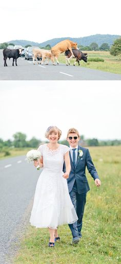 Rhian and Toan's DIY Festival Wedding >>> like this dress/look