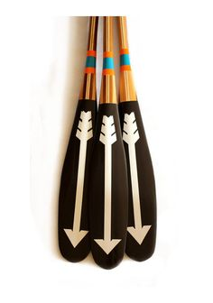 These canoe paddles are almost too beautiful to put in the water. We'd love to use them as wall decor. But if water sports are your thing these Minnesota-made paddles are perfect for smooth water gliding - Best Boston Shopping Wooden Canoe, Wooden Paddle, Canoe And Kayak, Canoe Paddles, Painted Oars, Boston Shopping, Interior Design Guide, Paddle Boat, Diy Cutting Board