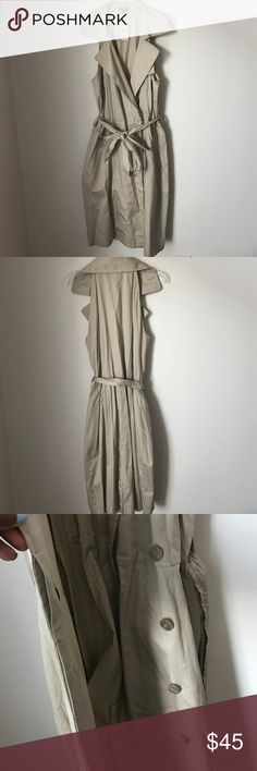 Ann Taylor Khaki Sleeveless Wrap Dress New w/ tag khaki wrap dress with hidden buttons. Approximately 39 inches shoulder to hem Ann Taylor Dresses