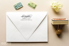 Wood Handle Custom Return Address Stamp by SincerelyJackie on Etsy, $35.00