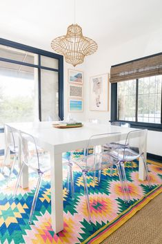 colorful dining room vibes