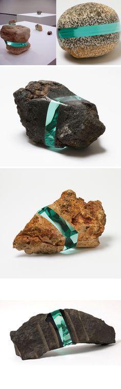 Glass & stone ~ artist Ramon Todo #art #sculpture