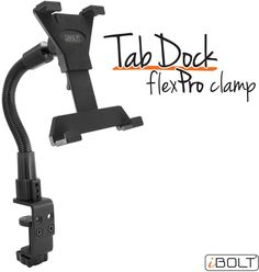 "🐕 Big deals! iBOLT IBBZ-33763 TabDock Flexpro Heavy Duty C-Clamp Mount for 7""-10"" Tablets only at $54.95 Hurry. Online Computer Store, Computer Hardware, Computer Technology, Clamp, A Table, Outdoor Power Equipment, Shop Now, Big, Design"