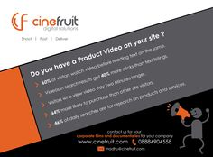 Do you have a #productvideo on your site? #Cinefruit provide #Corporatevideos, #Documentaries, #Editing #post_production for more details check #cinefruit #website cinefruit.com