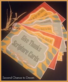 Free Printable Give Thanks Scripture Cards Wonderful Thanksgiving scripture cards! from Second Chance to Dream: Free Printable Give Thanks Scripture Cards Thanksgiving Prayer, Thanksgiving Parties, Thanksgiving Activities, Thanksgiving Crafts, Thanksgiving Decorations, Holiday Crafts, Holiday Fun, Church Activities, Thanksgiving Scriptures