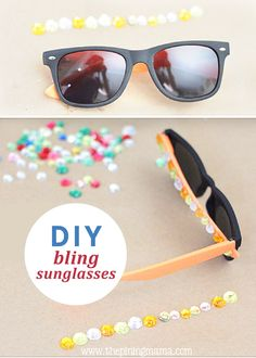 Discover how to make these awesome, DIY sparkly sunglasses and 12 other bedazzled gems for teens and tweens!