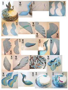 step by step... on how to design a peacock inspired cake