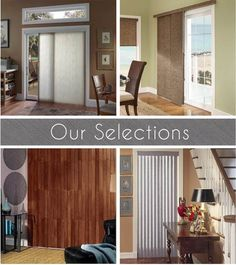 Some options for sliding glass door window coverings can be sliding glass door vertical blinds, sliding glass door plantation shutters, or simple valances paired with curtain panels. Patio Door Coverings, Window Coverings, Door Window Covering, Patio Doors, Sliding Glass Door, Windows And Doors, Panel Curtains, Home Projects, Blinds
