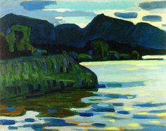Murnau, Coastline II, 1908 by Wassily Kandinsky Franz Marc, Art Kandinsky, Wassily Kandinsky Paintings, Art Moderne, Art For Art Sake, Art Abstrait, Painting & Drawing, Landscape Paintings, Modern Art
