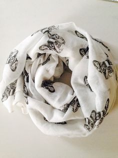 French Bulldog Scarf, Frenchie Scarf, French Bulldog Clothing, Frenchie Clothing, Women Fashion Accessories, Gift Ideas For Her, Birthday by MotherOfFrench on Etsy https://www.etsy.com/listing/227713229/french-bulldog-scarf-frenchie-scarf