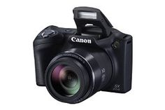 Canon PowerShot SX410 IS 20 Megapixel Compact Camera - Black 0107C001 Digital Cameras 20.0 Megapixel sensor and Canon DIGIC 4+ Image Processor Powerful 40x Optical Zoom (24–960mm) and 24mm Wide-Angle lens 720p HD video at up to 25 frames per second with clear sound 3.0-inch LCD screen with a great resolution of approximately 230,000 dots ECO Mode to provide more shots per single charge