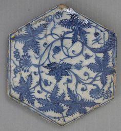 Hexagonal tile, 15th century, Egypt