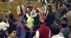 Beef party spell troubles! Jammu and Kashmir MLA thrashed by BJP members inside assembly