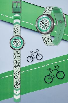Gifts For Kids, Great Gifts, Swiss Watch, Learn To Read, Bicycles, Hanging Out, Swatch, Bracelet Watch, Sporty