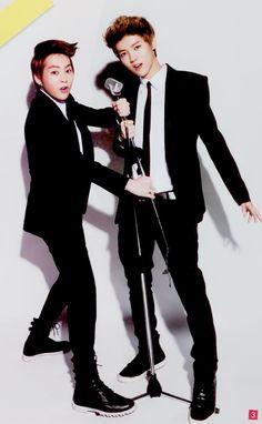 Xiumin and Luhan from exo m. Luhan looks so good in a suit! Exo Ot12, Exo Xiumin, Exo K, Asian Boy Band, Exo Couple, Baekyeol, Xiuchen, Kim Min Seok, Bts And Exo