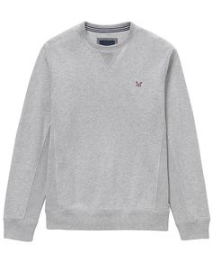 Men's Pentire Crew in Mid Grey Marl from Crew Clothing