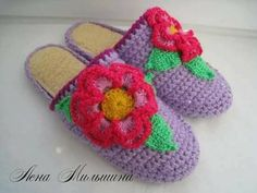 Tina's handicraft : 30 designs for crochet slippers Crochet Slippers, Crochet Hats, Crochet Books, Ribbon Design, Irish Lace, Crochet For Kids, Cross Stitch Embroidery, Crochet Stitches, Handicraft