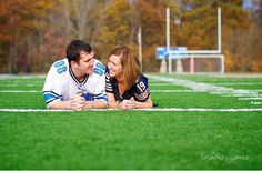 it's probably really lame...but I want an engagement picture on a football field.