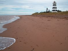 West Point Lighthouse PEI.  Spent the night on the second floor, Lightkeepers Suite. Walked the red sand beach in the rain.