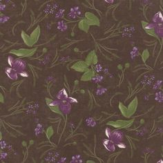 Moda Fabric Lady Slipper Lodge Lady Slippers Earth Brown - The Sewing Studio