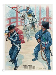 Military Units, Military Art, Military Uniforms, Japanese History, Asian History, Guerra Boshin, Satsuma Rebellion, Boshin War, Samurai Concept