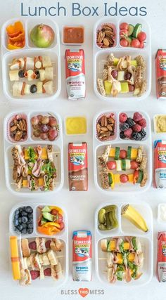 """6 easy """"Sandwich-on-a-Stick"""" Lunch Box Ideas are perfect to take to school or work and are a fun twist on all of your favorite classic sandwiches. kids lunch 6 Sandwich-on-a-Stick Lunch Box Ideas Healthy Packed Lunches, Healthy School Lunches, Lunch Snacks, Clean Eating Snacks, Work Lunches, Snack Box, Road Trip Snacks, Eating Raw, Healthy College Meals"""
