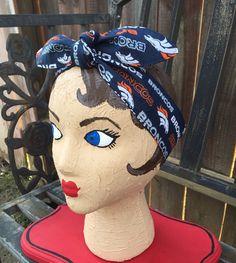 Denver Broncos dolly bow headband NFL football