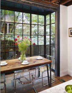 Light filled Dining space off of kitchen