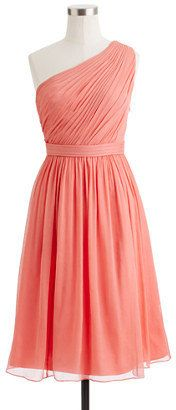 Coral Bridesmaid Dress Aline Short Chiffon by harsuccthing on Etsy