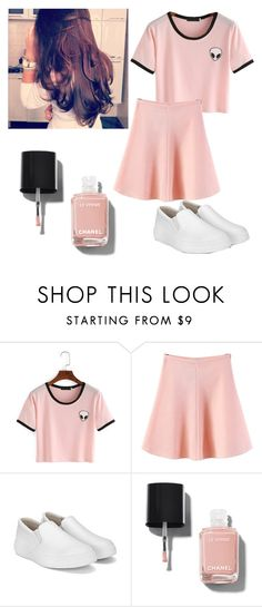"""""""Untitled #1300"""" by licipeach on Polyvore featuring WithChic and Chanel"""