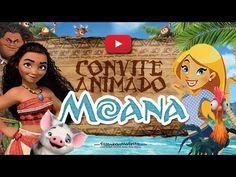 Convite Animado Moana Grátis - YouTube Festa Moana Baby, Moana Bebe, Alice, Valentino, Samara, Camilla, Youtube, Invitation Birthday, Moana Birthday