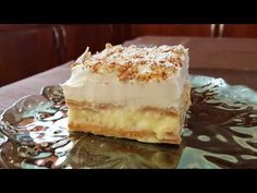 millefeuille with cream crackers! Cookbook Recipes, Cooking Recipes, Cream Crackers, Greek Recipes, Vanilla Cake, Tiramisu, Quiche, Cheesecake, Food And Drink