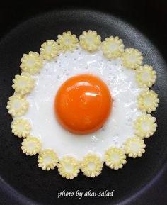 可愛い目玉焼き☆ヤングコーン by akai-salad | レシピサイト「Nadia | ナディア」プロの料理を無料で検索