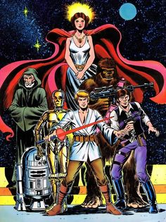 Marvel Star Wars Movie Adaptation - back cover art by Dave Cockrum and Rick Hoberg (1977)