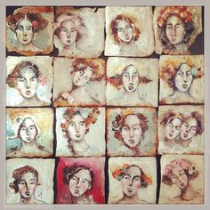 #16 tiny little faces #TeaBagGirls #100faces #onehundredfaces…