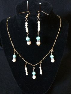 gold chain with long drops of cream pearls and by ScottishDryad, $24.00