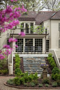 Hot off the Press: Charlotte Urban Home Feature - The English Room Outdoor Rooms, Outdoor Living, Outdoor Decor, Porches, Secret House, Traditional Exterior, Architectural Features, Cottage, Garden Pool
