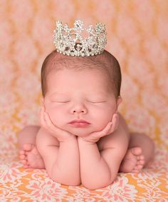 Silver Crystal Mini Crown | zulily